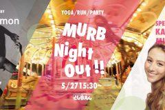 【参加募集中】非日常空間でヨガやナイトランを!としまえんでガールズイベント「MURB Night Out !!」開催へ