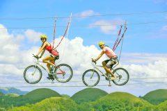 空中自転車綱渡りやプチバンジーを体験!栂池高原スキー場「Xtrem Aventures HAKUBA TSUGAIKE WOW!」がオープン