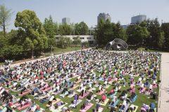 まるでハワイ・ホノルルのカピオラニパーク?東京ミッドタウンの「芝生広場」でフラ、ヨガ、ウクレレのワークショップがGWに開催