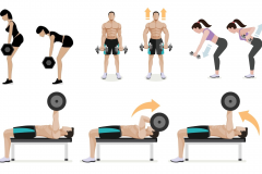 """背中の筋肉(背筋)は""""部位別""""に鍛えると効果的。「広背筋・脊柱起立筋・僧帽筋」を鍛えるダンベル筋トレ5選"""