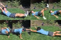 1種目1分。10種類の「体幹トレーニング」でランニングフォームの崩れを防ぐ