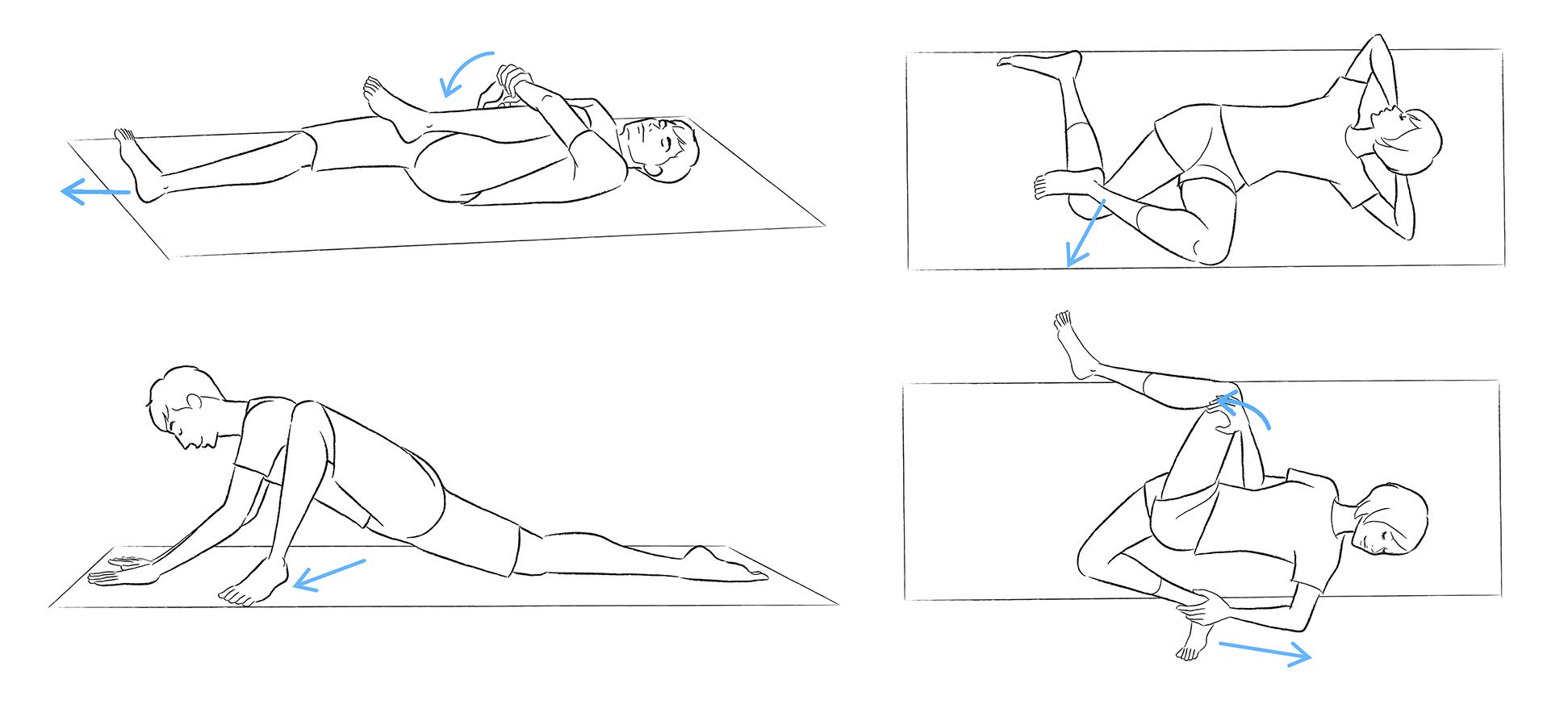 股関節 ストレッチ 簡単