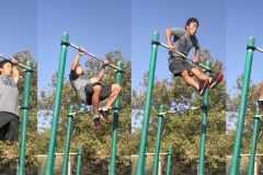 公園で筋トレ│鉄棒を使った「マッスルアップ」トレーニングで体幹を鍛える