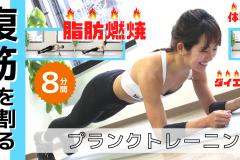 腹筋に効く。体幹を鍛えるプランクトレーニング8分間