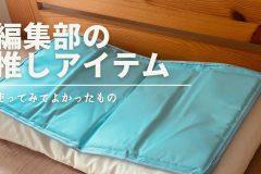 【快眠グッズ】暑くて眠れないときは「枕用ひんやりジェルマット」がおすすめ|編集部の推しアイテム